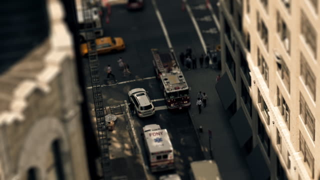 sandpit - firetruck - fire department of the city of new york stock-videos und b-roll-filmmaterial