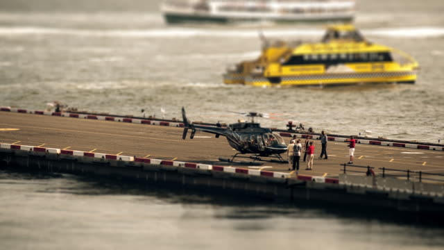 sandpit - helicopter loading cu - tilt shift stock videos and b-roll footage