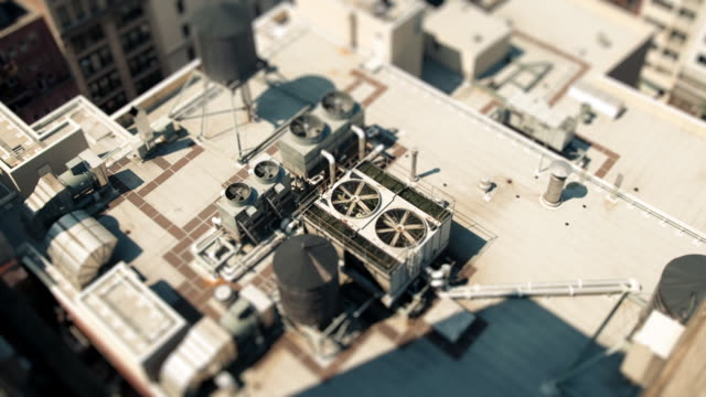 vídeos y material grabado en eventos de stock de sandpit - union square rooftops - tilt shift
