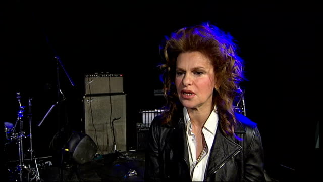 sandra bernhard interview sandra bernhard interview continued sot somewhere where cabaret meets burlesque meets rock and roll - burlesque stock videos & royalty-free footage