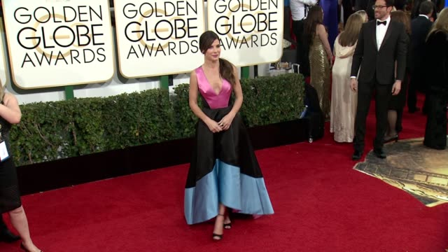 sandra bullock at 71st annual golden globe awards arrivals at the beverly hilton hotel on in beverly hills california - sandra bullock stock videos & royalty-free footage