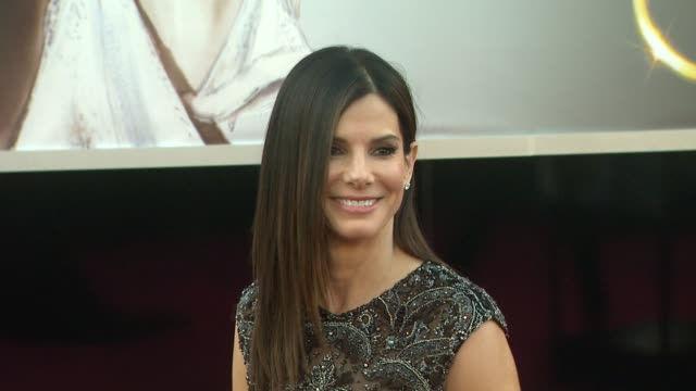 sandra bullock at 85th annual academy awards arrivals on 2/24/13 in los angeles ca - sandra bullock stock videos & royalty-free footage