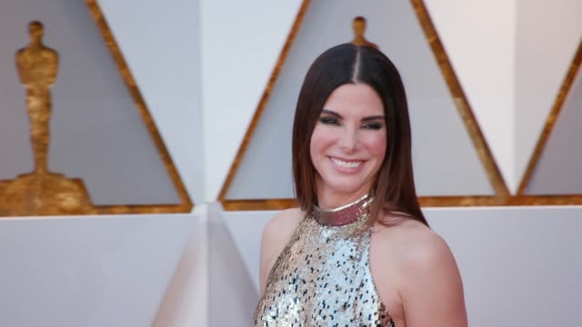 sandra bullock at 90th academy awards arrivals - 90th annual academy awards stock videos & royalty-free footage