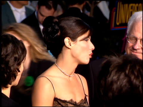 sandra bullock at the 1996 people's choice awards at universal studios in universal city, california on march 10, 1996. - 1996 stock videos & royalty-free footage