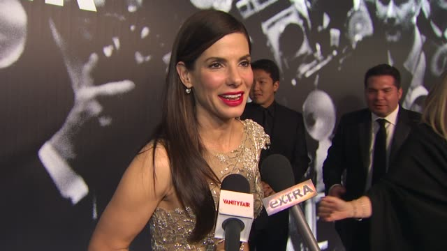 sandra bullock at the 2010 vanity fair oscar party hosted by graydon carter at west hollywood ca - graydon carter stock videos and b-roll footage