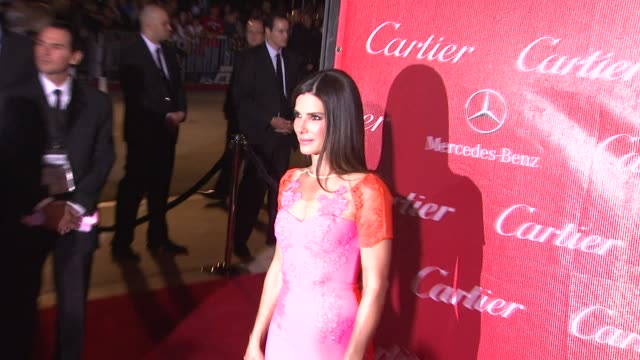 sandra bullock at the 25th annual palm springs international film festival awards gala presented by cartier in palm springs, ca on 1/04/14 - cartier stock videos & royalty-free footage