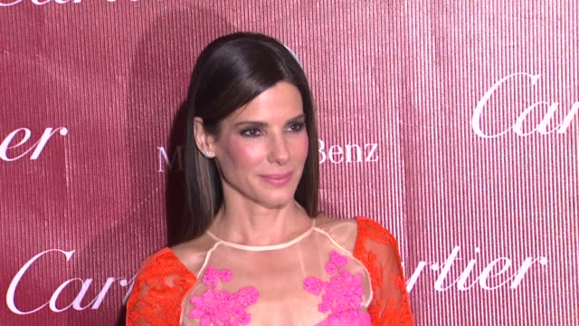 sandra bullock at the 25th annual palm springs international film festival awards gala presented by cartier in palm springs, ca on 1/04/14 - サンドラ・ブロック点の映像素材/bロール
