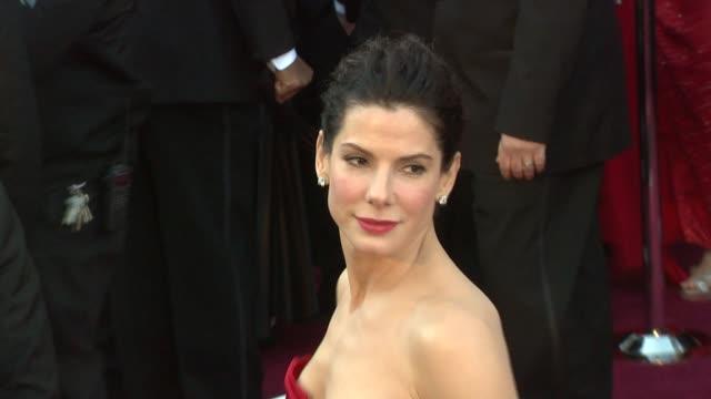 sandra bullock at the 83rd annual academy awards - arrivals part 3 at hollywood ca. - sandra bullock stock videos & royalty-free footage