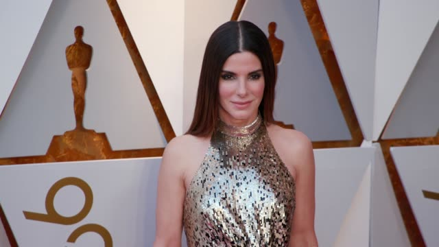 sandra bullock at the 90th academy awards arrivals at dolby theatre on march 04 2018 in hollywood california - 90th annual academy awards stock videos & royalty-free footage