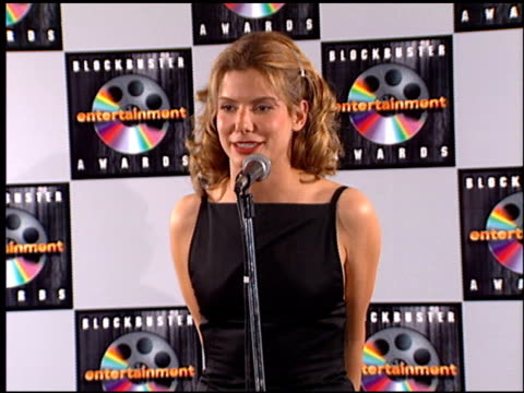 sandra bullock at the blockbuster entertainment awards at pantages theater in hollywood, california on june 3, 1995. - 1995 stock videos & royalty-free footage