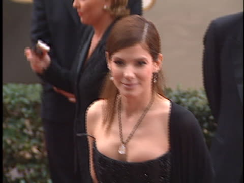 sandra bullock at the golden globes 2001 at beverly hilton hotel, beverly hills in beverly hills, ca. - the beverly hilton hotel stock videos & royalty-free footage