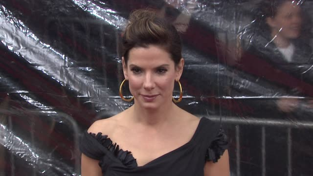 sandra bullock at the new york premiere of 'the blind side' at new york ny. - sandra bullock stock videos & royalty-free footage