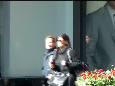 Sandra Bullock leaves the 'Today Show' with her sister Gesine who is promoting her new cookbook in New York 03/30/11