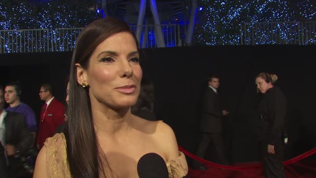 sandra bullock on having several nominations for people's choice awards and on the success of the proposal and the blind side at the 36th annual... - サンドラ・ブロック点の映像素材/bロール