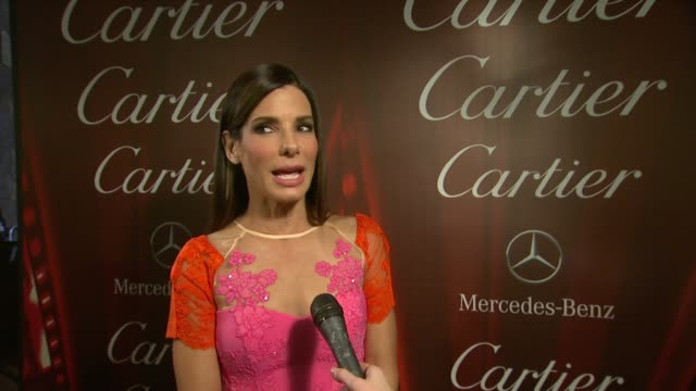 sandra bullock on the festival why gravity resonated with her at the 25th annual palm springs international film festival awards gala presented by... - sandra bullock stock videos & royalty-free footage