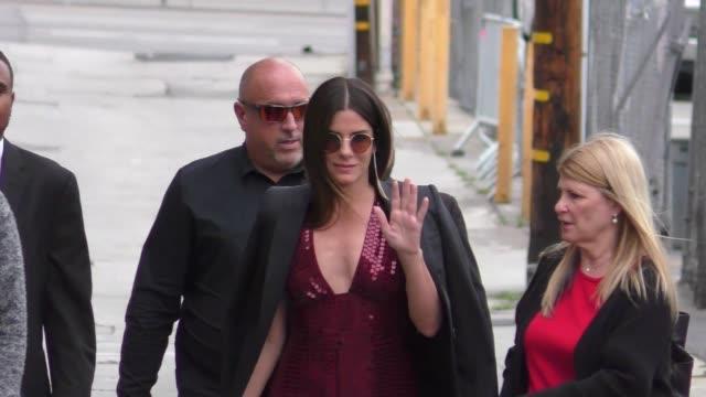 sandra bullock outside jimmy kimmel live in hollywood on may 30 2018 - sandra bullock stock videos & royalty-free footage