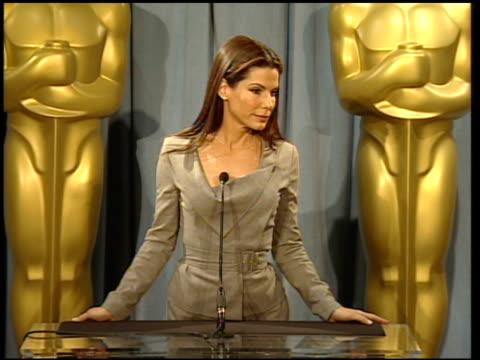 sandra bullock reactions to nominations and her role in the movie at the 82nd academy awards nominees luncheon at beverly hills ca - wickelkleid stock-videos und b-roll-filmmaterial