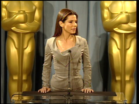 sandra bullock reactions to nominations and her role in the movie at the 82nd academy awards nominees luncheon at beverly hills ca. - サンドラ・ブロック点の映像素材/bロール
