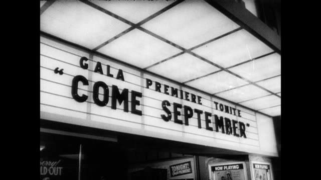 / sandra dee and bobby darin step out of car at premiere of 'come september' 'come september' movie premiere on august 09 1961 in hollywood california - 1961 stock videos and b-roll footage