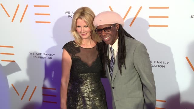 sandra lee and nile rodgers at we are family foundation 2016 celebration gala at hammerstein ballroom on april 29 2016 in new york city - gala stock videos & royalty-free footage