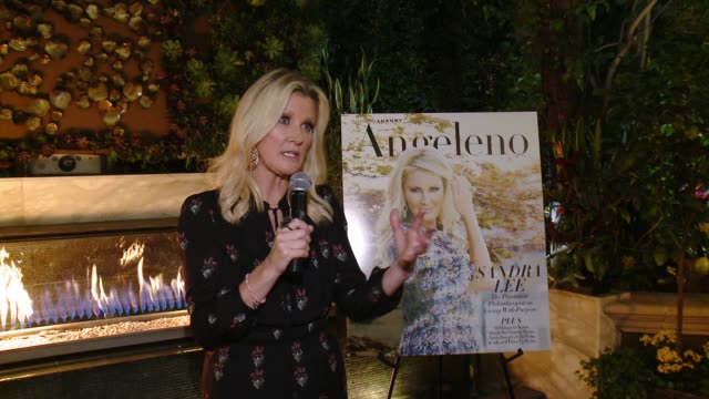 vídeos de stock, filmes e b-roll de speech sandra lee at angeleno magazine celebrates its philanthropy issue with sandra lee and bbva compass at culina at the four seasons hotel in los... - compasso