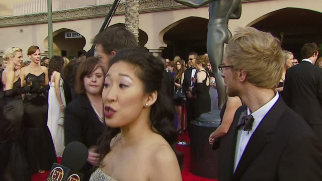 vidéos et rushes de sandra oh at the 2007 screen actors guild sag awards at the shrine auditorium in los angeles california on january 28 2007 - sandra oh