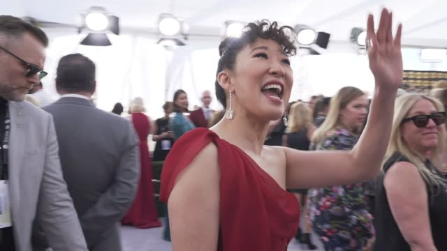 sandra oh at the 25th annual screen actors guild awards social ready content at the shrine auditorium on january 27 2019 in los angeles california - screen actors guild awards stock videos & royalty-free footage