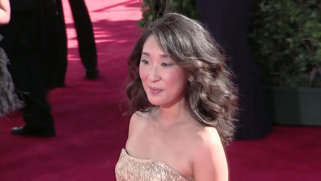 Sandra Oh at the 61st Annual Primetime Emmy Awards Arrivals Part 3 at Los Angeles CA