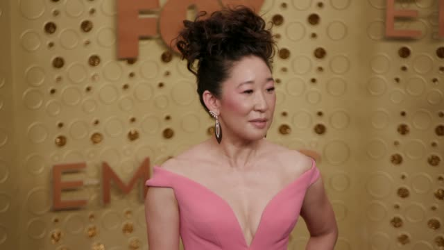 vidéos et rushes de sandra oh at the 71st emmy awards at microsoft theater on september 22 2019 in los angeles california - sandra oh
