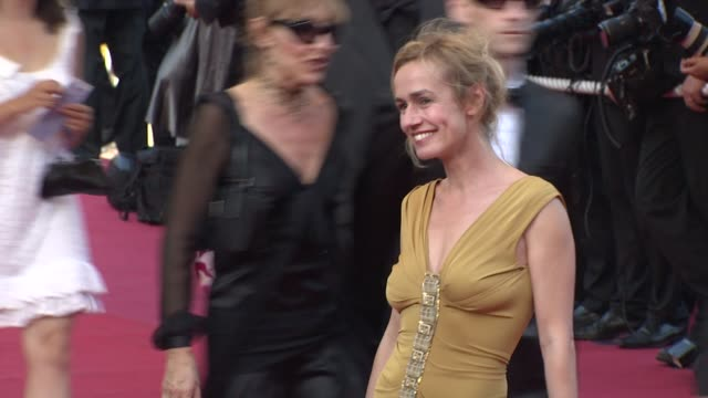 sandrine bonnaire at the cannes film festival 2009 visage face steps at cannes - 62 ° festival internazionale del cinema di cannes video stock e b–roll