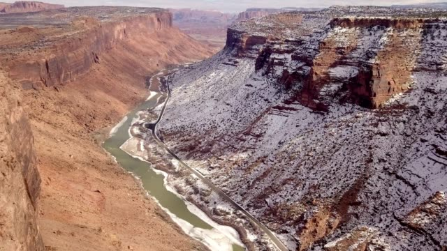 sandstone canyon of the colorado river near moab utah - river colorado stock videos & royalty-free footage