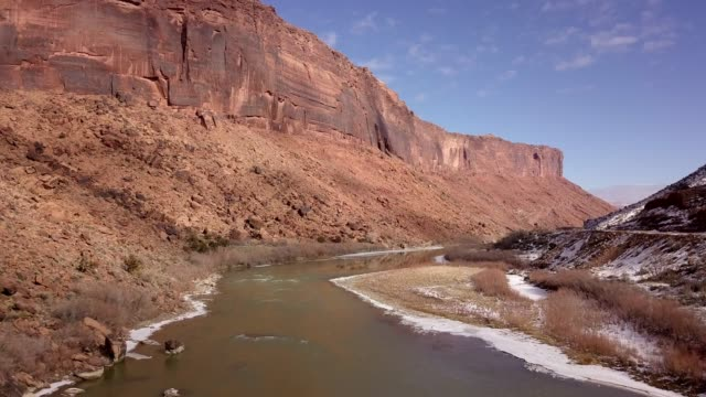 sandstone canyon of the colorado river near moab utah - grand canyon national park stock videos & royalty-free footage