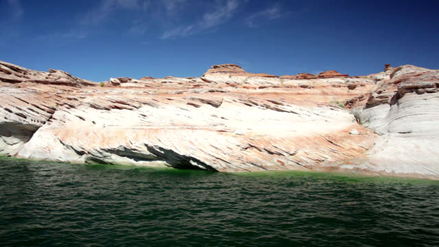 sandstone formations at lake powell - puebloan peoples stock videos & royalty-free footage