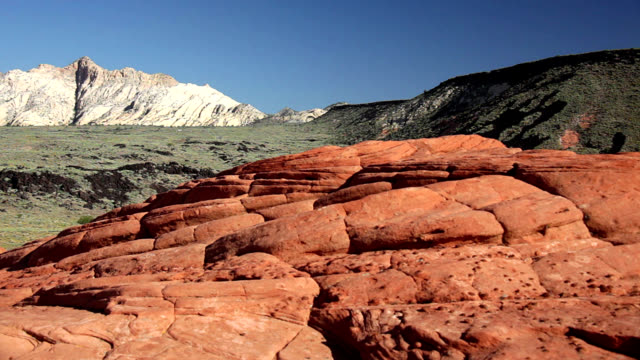 sandstone formations in utah - sandstone stock videos & royalty-free footage