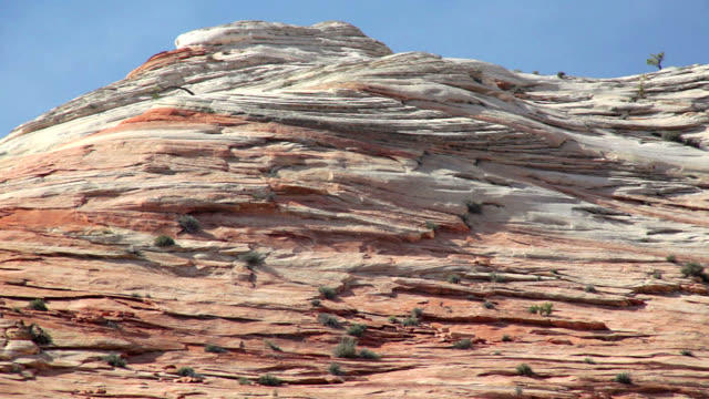 """sandstone formations, zion national park"" - sedimentary rock stock videos & royalty-free footage"