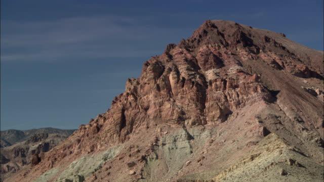 sandstone hills overlook death valley. - sandstone stock videos & royalty-free footage