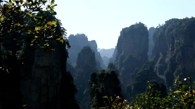 Sandstone pillars, Zhangjiajie National Forest Park, China