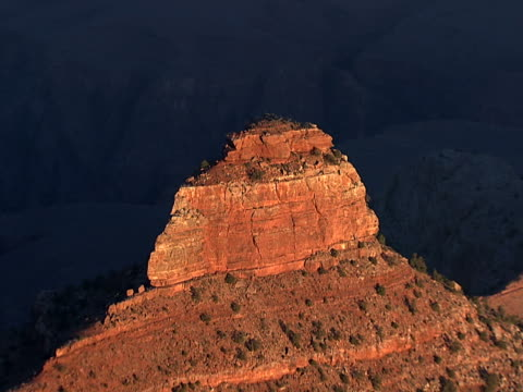sandstone pyramid, grand canyon - sandstone stock videos & royalty-free footage