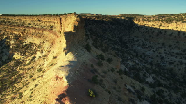 sandstone wall in the san rafael swell - drone shot - san rafael swell stock videos and b-roll footage