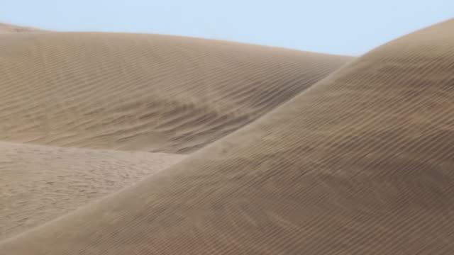 vidéos et rushes de sandstorm in gobi desert dunes - mongolie indépendante