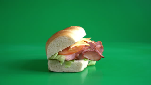sandwich ham on green screen
