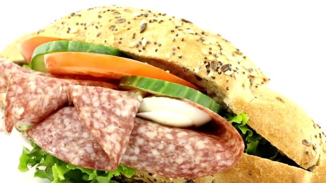 サンドイッチ - 食べ物 サンドイッチ点の映像素材/bロール