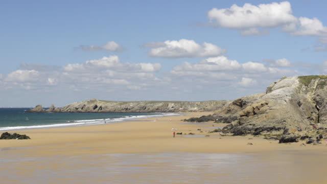 vidéos et rushes de sandy beach at cote sauvage - littoral