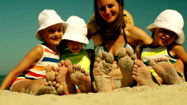 sandy feet - sunbathing stock videos & royalty-free footage
