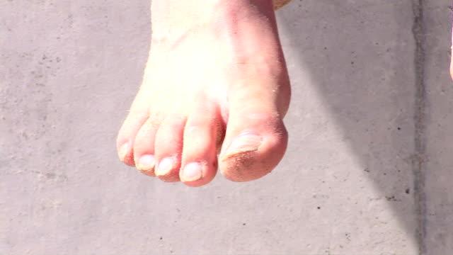 sandy feet - human toe stock videos and b-roll footage