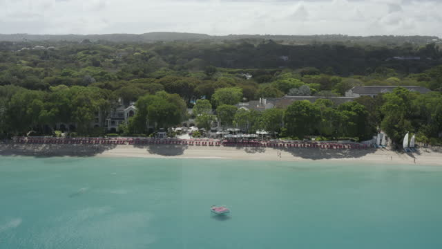 sandy lane, barbados by drone - caribbean sea stock videos & royalty-free footage