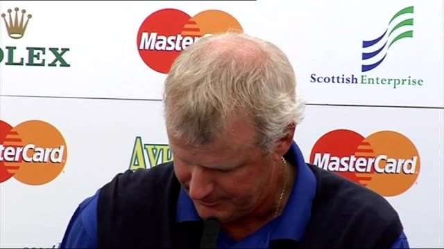 Sandy Lyle press conference Lyle press conference SOT Lots of people say things on spur of moment/In other sports people can pull out more...