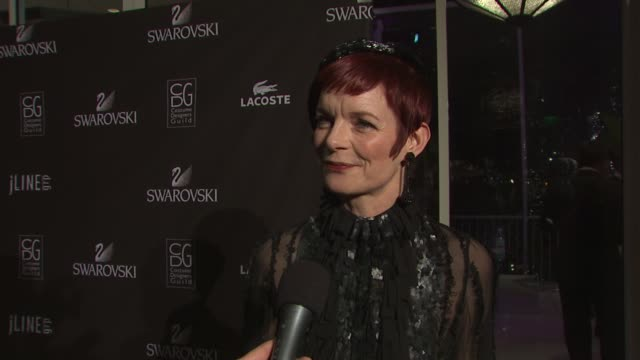 sandy powell on being honored for the lacoste career achievement in television award on her favorite project she's worked on and on the most... - television awards stock videos & royalty-free footage