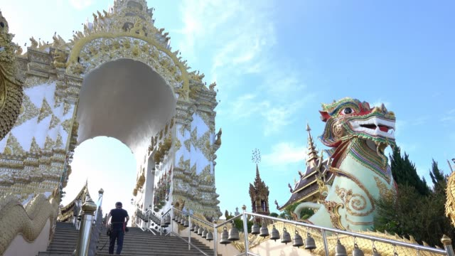 sangkeawphothiyan temple in chiang rai thailand - chiang rai province stock videos and b-roll footage