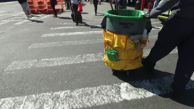 sanitation worker in new york city - flushing queens stock videos and b-roll footage